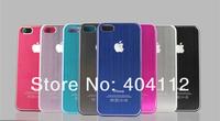 free shipping!!For iphone 5 Brushed Aluminum Case, Brushed Metal Back Case for iphone5 5g,metal cover