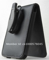 Hot!  black PU Leather wallet protective Case For Apple  iPod  Video classic 80G and 120G with movable clip