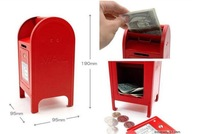 2012 hot sales,Mini mailbox modelling,money boxes,  iron save tank 0.5 kg,free shipping.