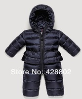 Зимняя одежда для девочек 2013 brand baby's infant down bodysuits babysuit sleepsuit down coat snow wear winter overcoat high quality blue color