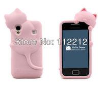 Чехол для для мобильных телефонов 1pcs ship 3D Cute Cat Soft Silicone Back Cover Case For Samsung Galaxy Ace S5830