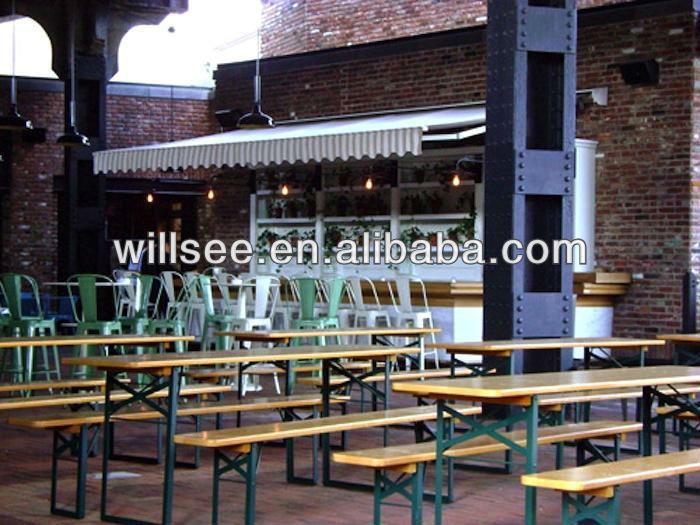 HE-203, 나무 접는 맥주 테이블 세트/야외 맥주 테이블 및 벤치 ...