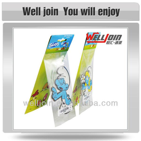 Amazing Cartoon Paper Car Air Freshener, Cotton Paper Freshener