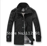Autumn Collection Slim Long Korean Style Stand-up Collar Dust Coat  A538