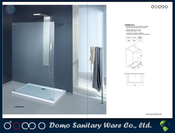 8mm Glass Walk-in Shower Screen