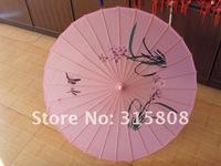Свадебный зонтик Pink fabric parasol/umbrella great for wedding favor / dancing umbrella, UM08