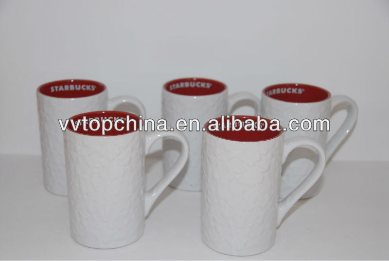 hot sale stoneware starbucks coffee cup with logo inside