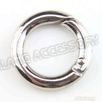 30 pcs/lot Free Shipping Zinc Alloy Round Keyring Rhodium Plated Key Ring Findings Fit Key Chain 17mm 160932