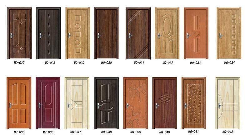 High quality new design bedroom pvc swing door in doors for Quality door design