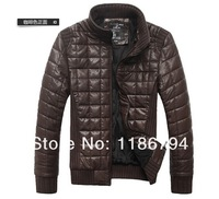 Мужская ветровка autumn winter overcoat warm men's clothes casual coats medium-long slim cotton man's jackets 4 colors