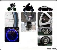 4 x Cycling Motor Car Tire Spoke Wheel Alarm LED Blue Light Lamp 6002