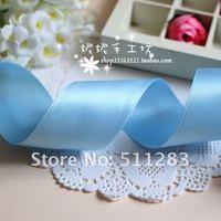 """Free shipping Light blue color 1-1/2"""" (38mm) satin ribbon hair bows ribbon 308#"""