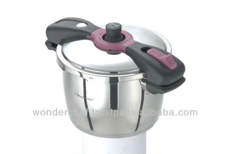 Large Induction Base Pressure Cooker 5.5L Safety Design