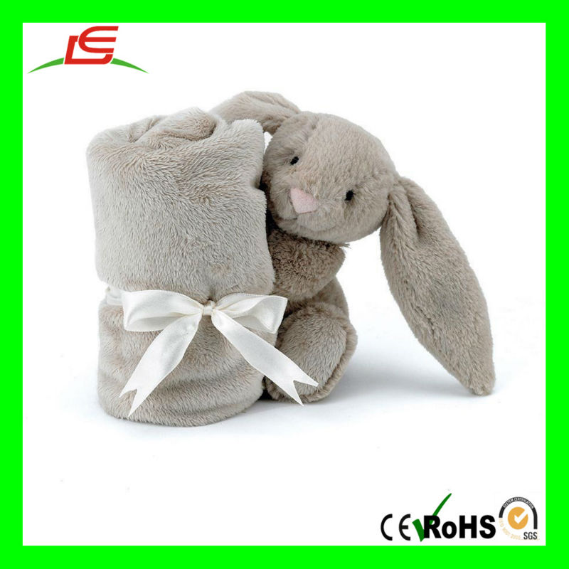 D847 Bunny Rabbit Blankie Plush Animal Baby Blanket - Buy Plush