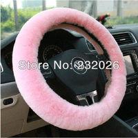 Автомобильные держатели и подставки New Fashion Whole Skin Sheepskin Steering wheel Cover