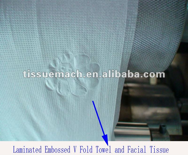 Fastest New Design High Speed Automatic Printing Embossing V Fold Hand Towel Machine