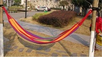 гамак Canvas Single tourism camping hunting hammock Leisure Fabric Stripes, multicolour, sizes: 200X 80cm