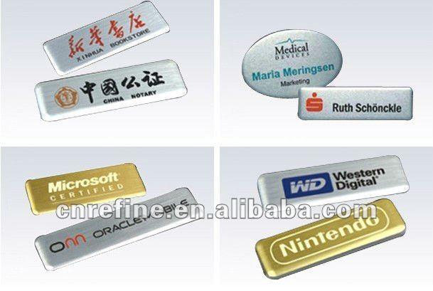 Metallic Colors Names Metal Badges Name Tags