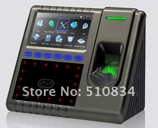 Facial Fingerprint Time Attendance Clocking Recorder Machine System Solution With Touch Screen USB Port TCP/IP SDK Free Shipping