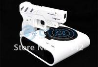 Будильник Laser Target Desk Shooting Gun Alarm Clock Cool Gadget Toy Novelty with Red LED Backlight