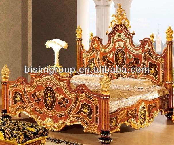 Luxury Bedroom Set,Italian Royal Style Wedding Furniture 24k Gold ...