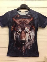 2013 Fashion women/men animal 3D Sleeveless Slim wild t shirts Men 3d Vest tank top loose galaxy top Freeshipping