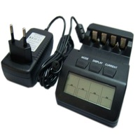 F02598 BM100 Intelligent Digital Battery Charger LCD Multifunction for 4 AA AAA Rechargeable Batteries AKKU +free shipping
