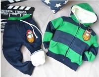 Комплект одежды для девочек Retail 2013 New! Brand Baby Children's Clothing Hoodies coat +pants 2pcs set Girls Boys Kids Sport Suit Autumn Winter Clothes