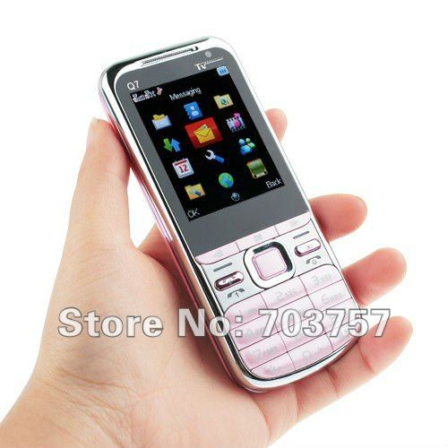 Q7 TV Quad Band Dual Cards Dual Cameras Analog TV Bluetooth 2.2 inch super big speaker phone