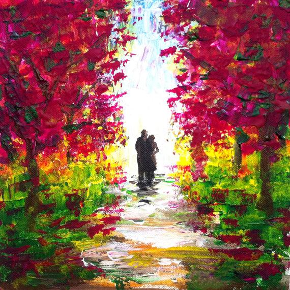 Aliexpress.com: Comprar Amor en día de primavera lienzo abstracto ...