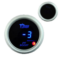 "Прибор для авто 2"" 52mm Universal Auto Car Blue LED PSI Boost Digital Gauge + Black Pod Cover Boost Sensor Controller Turbo Meter 52mm Boost"
