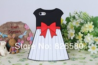 Чехол для для мобильных телефонов Newest Cute 3D Skirt Dress Soft Silicone Cover Case for iPhone 5 5g 5th With Retail Packaging