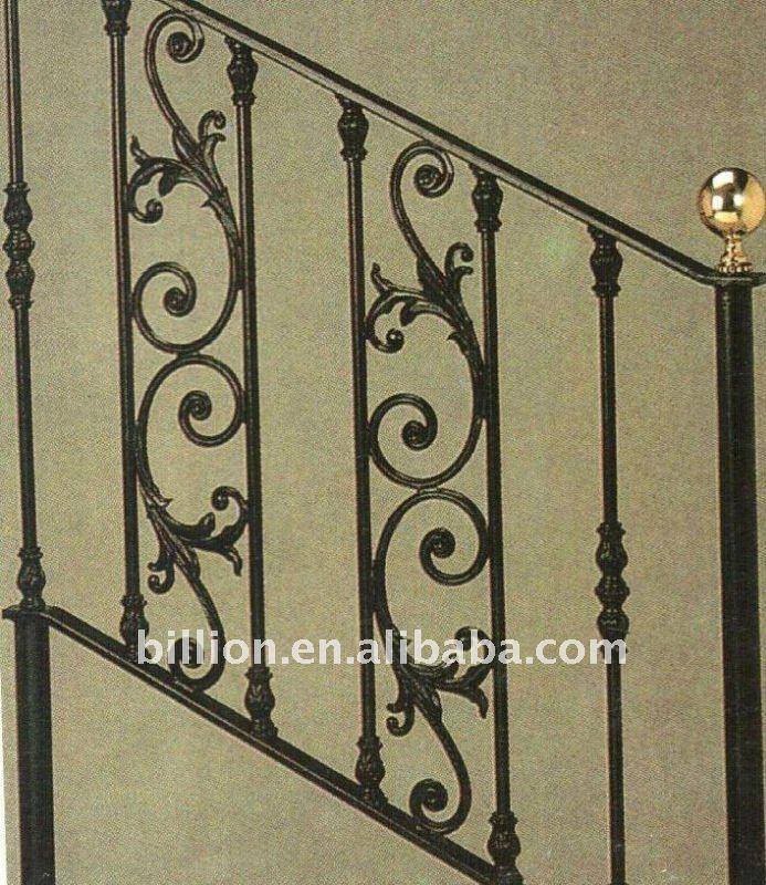 Forjado hierro pasamanos de la escalera escaleras - Pasamanos de hierro forjado para escaleras ...