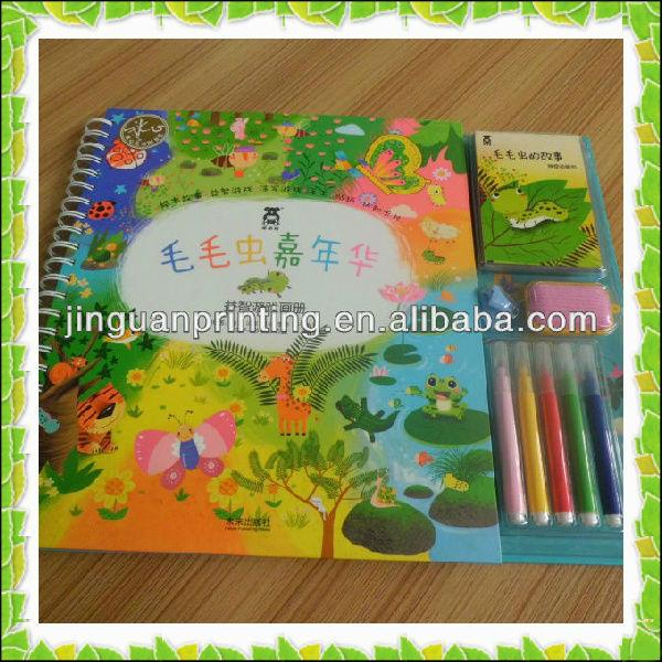 Fancy Design Children Book With Pencil