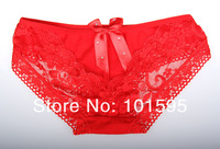 Женские трусики NEW! 6pcs/lot ladies lace underware briefs with bow Christmas gift Ladies sexy lace panties Lowest price
