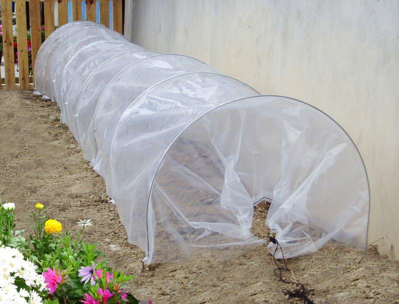 Landscape plastic cover : Pvc cover tunnel garden plastic with tube frame