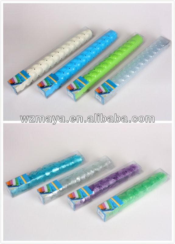 Transparent slip resistant bath mat