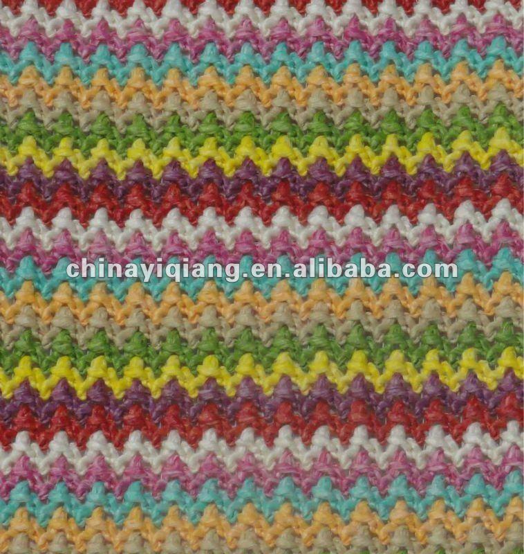 de la muestra patrón de arco iris de tejido pp tejido de ganchillo