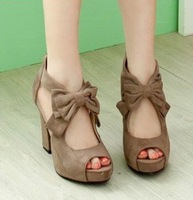 Женские сандалии woman summer high heel sexy sandle, elegant Wedge Women's Sandals High Heels Platform bowknot Shoes A1249