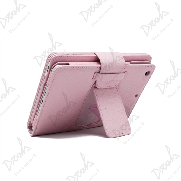 For business travel aluminum ABS bluetooth keyboard case for ipad mini leather keyboard case cover