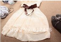 одно плечо сладкий женщин плиссированные партии шифоновое платье a-006