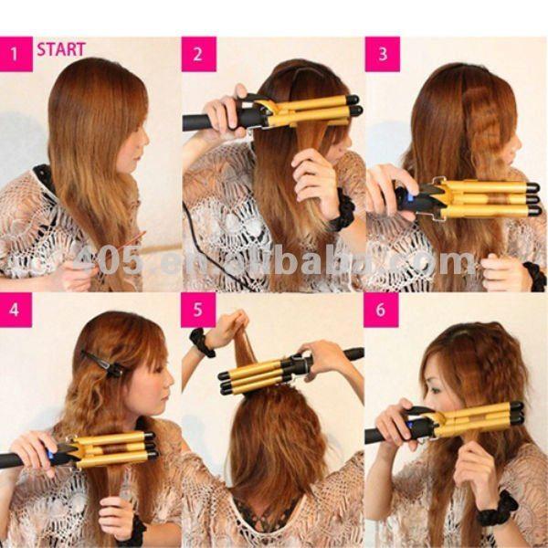 best 3 tube hair curling machine peruvian hair spiral curl machine