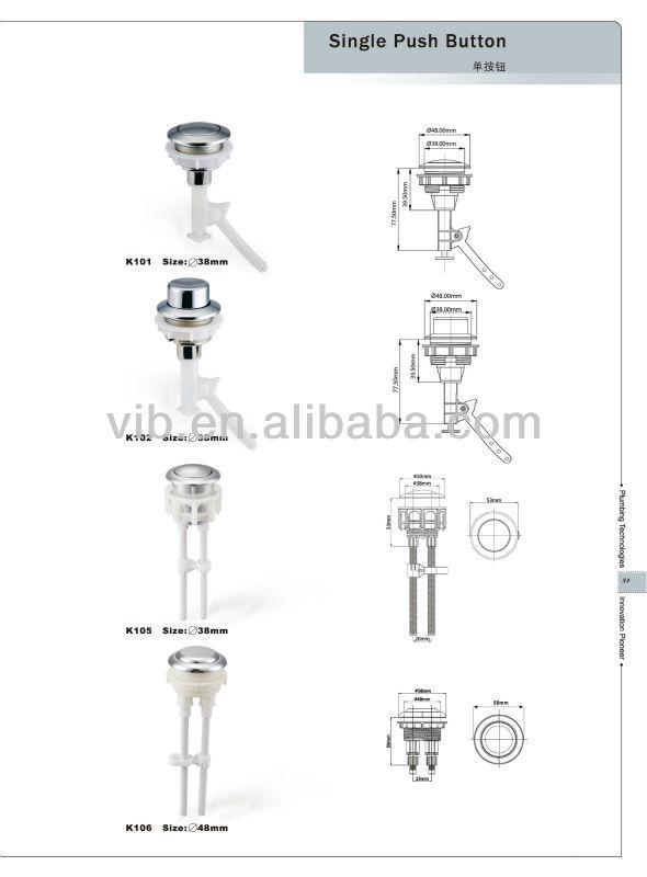 Toilet Cistern Flush Mechanism Of Complete Wc Set