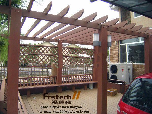 fireproof wooden garden pergola,wpc pergola,new design gazebo