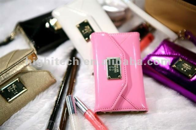 Luxury Designer Leather Case Cover Wallet Pouch Bag Purse For iPhone 4 4S