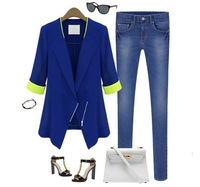 Женский костюм WOMAN SUIT BLAZER FOLDABLE BRAND JACKET women clothes suit one button shawl cardigan Coat! 13305