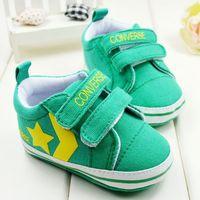 Пинетки 3 pair/lot green new kids infants toddler baby boys girls non-slip childrens shoes first walker 1539