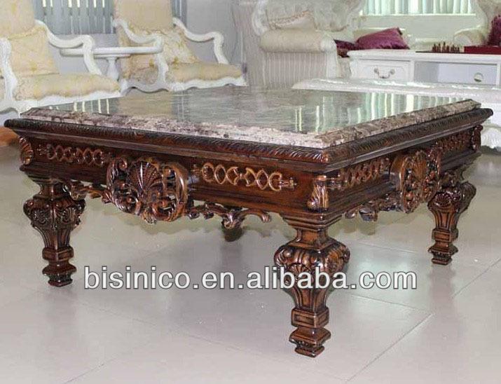 Luxo sala de estar estilo espanhol praça mesa de café tampo de ...