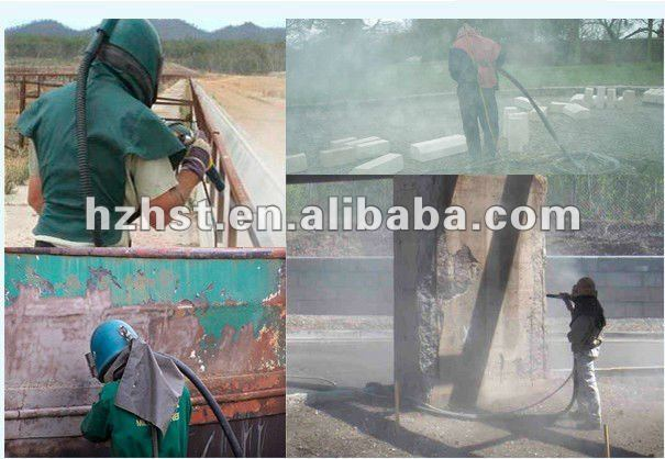 Portable pressure sand blasting machine