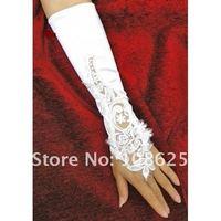 Свадебные перчатки High Quality white/ ivory Wedding bridal Gloves Fingerless Elbow length BG003